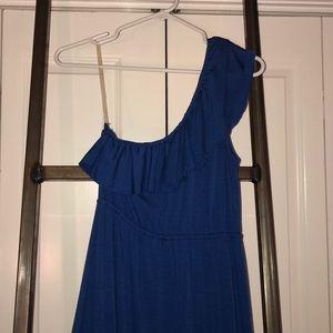 Women's blue maxi dress